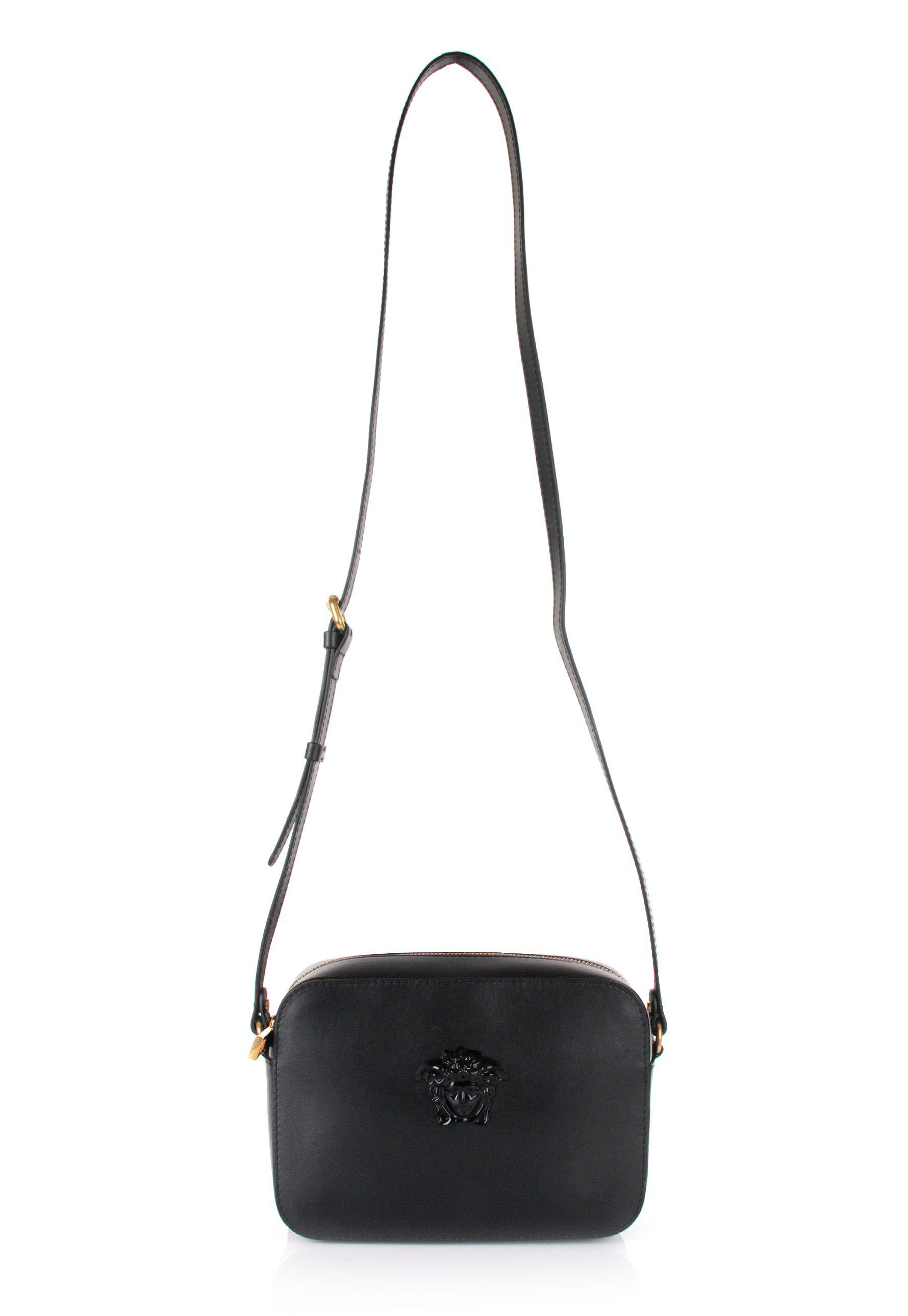 9f60a41512 Versace Large Medusa Head Side Bag Black/gold in Black - Lyst