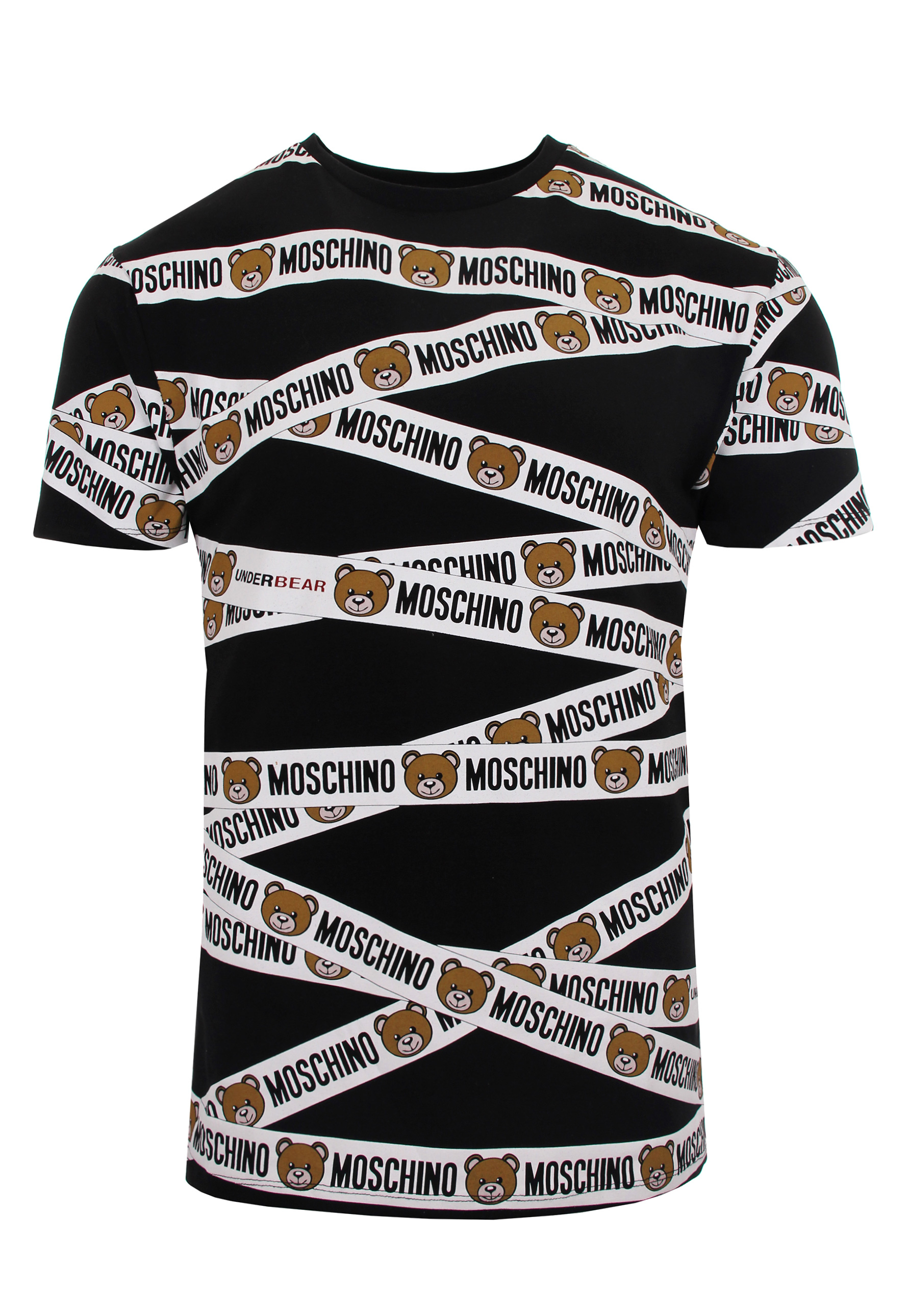 1018918fc4a3 Lyst - Moschino Mens Bear Tape T-shirt Black in Black for Men