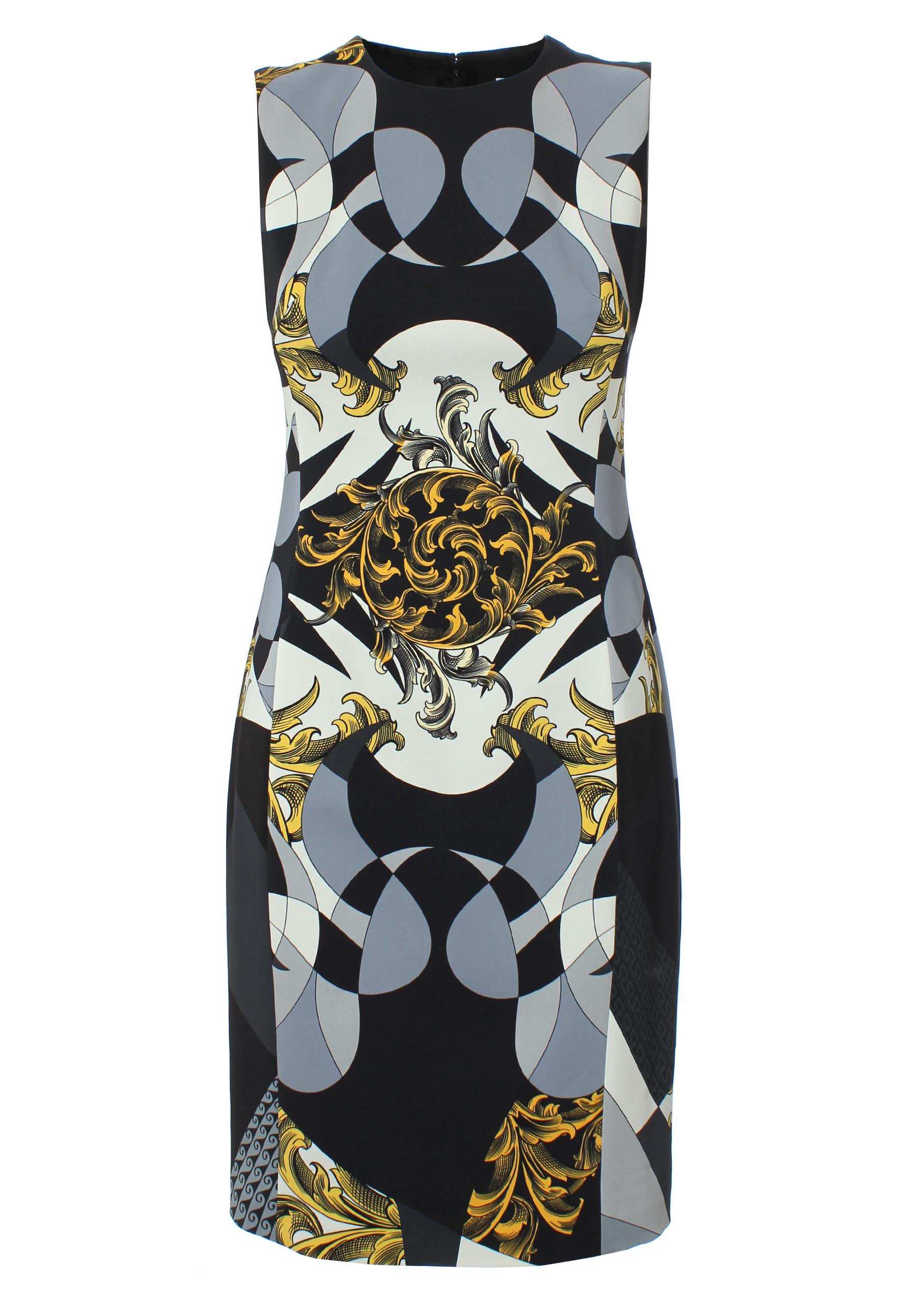 810e4b0317c7 Versace Regal Baroque Print Shift Dress Black/white/gold in Black - Lyst