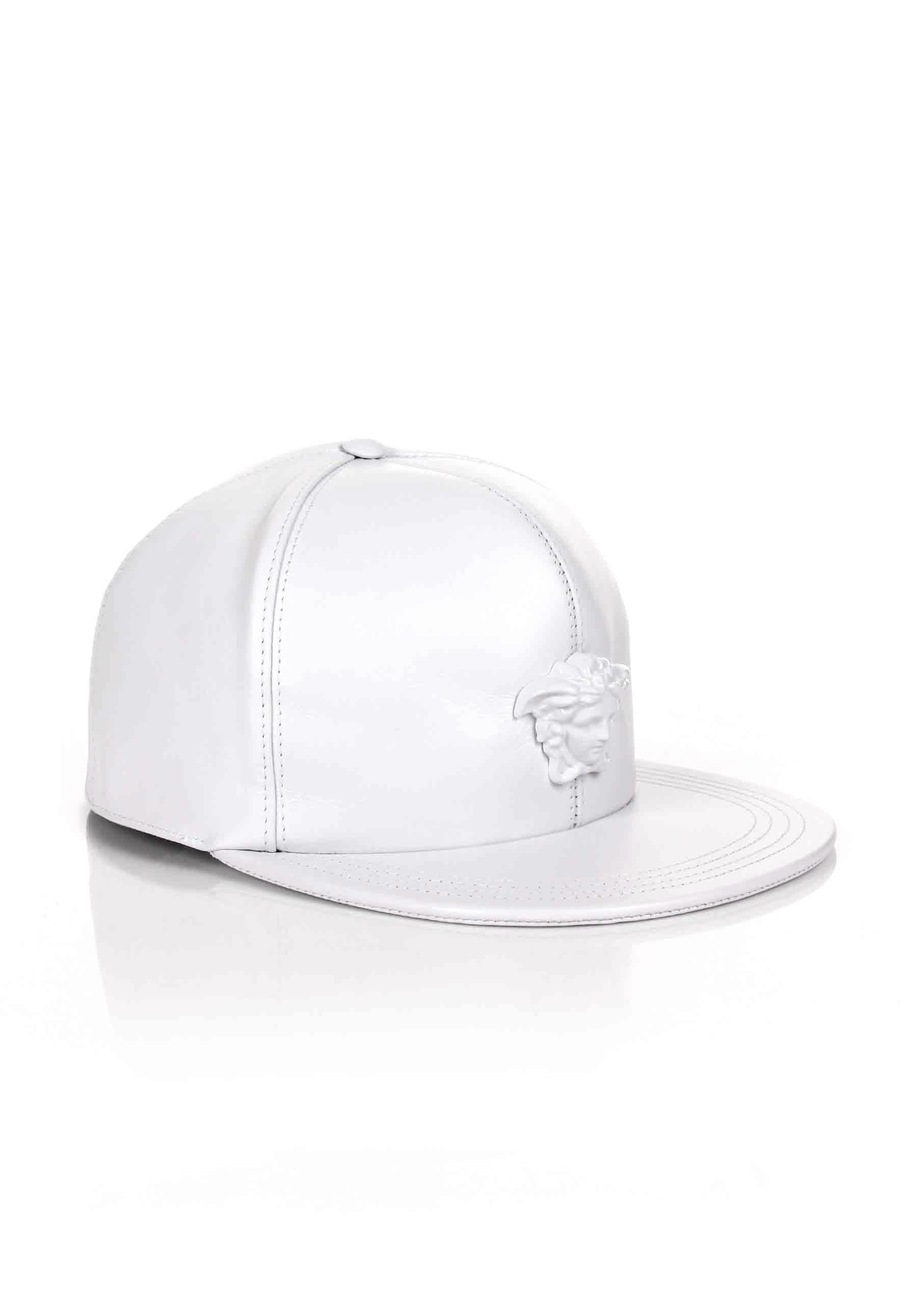 c2a2882c4ec ... black one size 0ccc4 af5ac  low price lyst versace medusa logo leather  show cap white white in white for men 29343