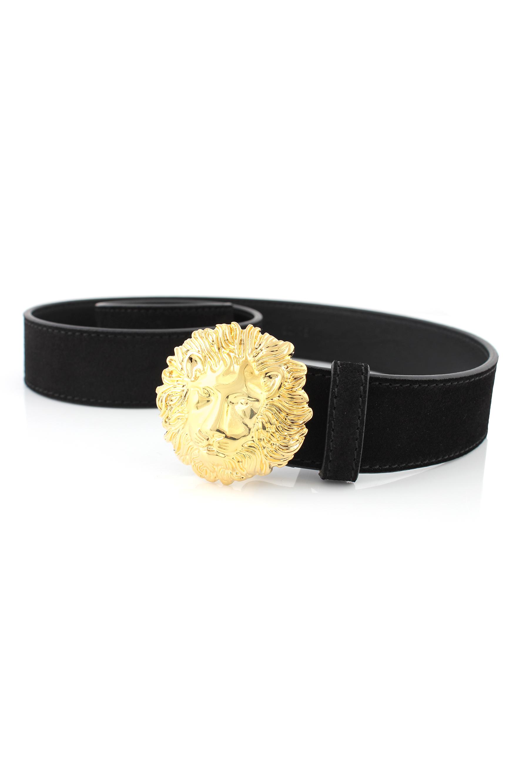 lion head buckle belt - Black Versus 62hHQm