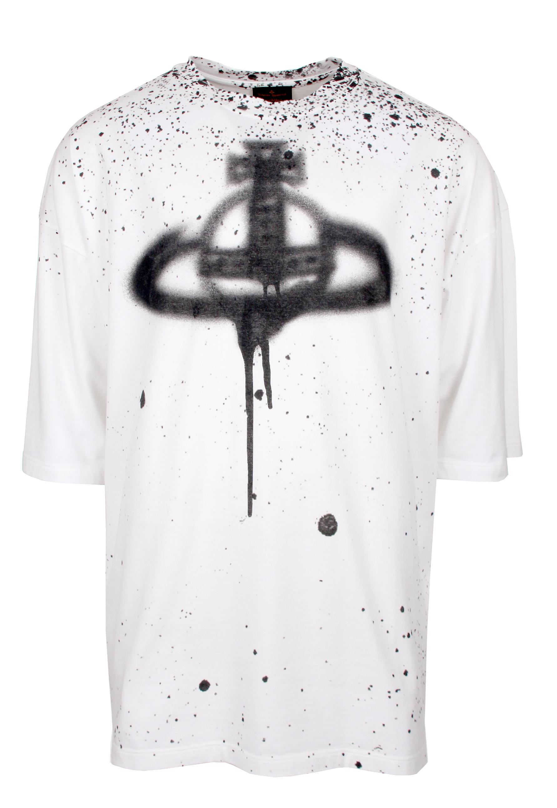 Vivienne Westwood Anglomania Spray Orb Baggy T-Shirt White -3916
