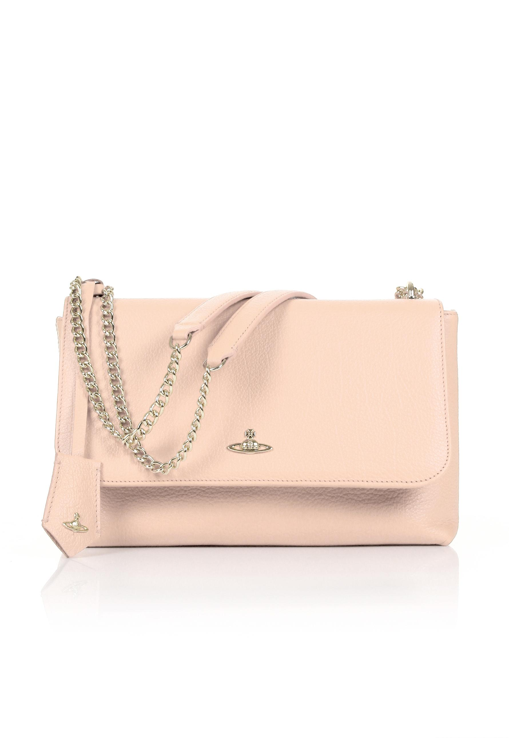0ae94eee70fe Vivienne Westwood Balmoral 131116 Large Bag With Flap Pink cream in ...