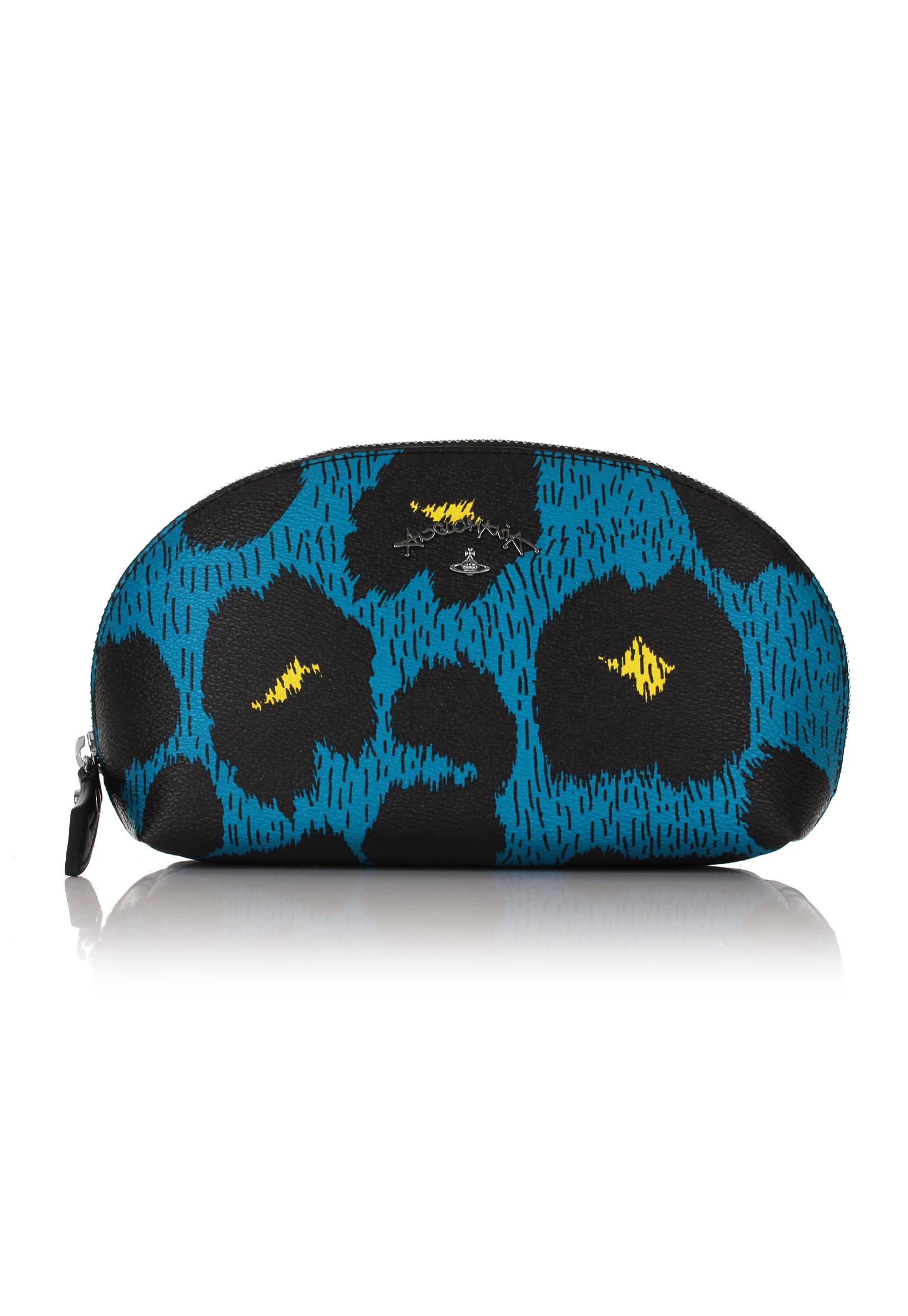 8dd115f558 Lyst - Vivienne Westwood Leopardmania 35084 Make Up Bag Blue in Blue