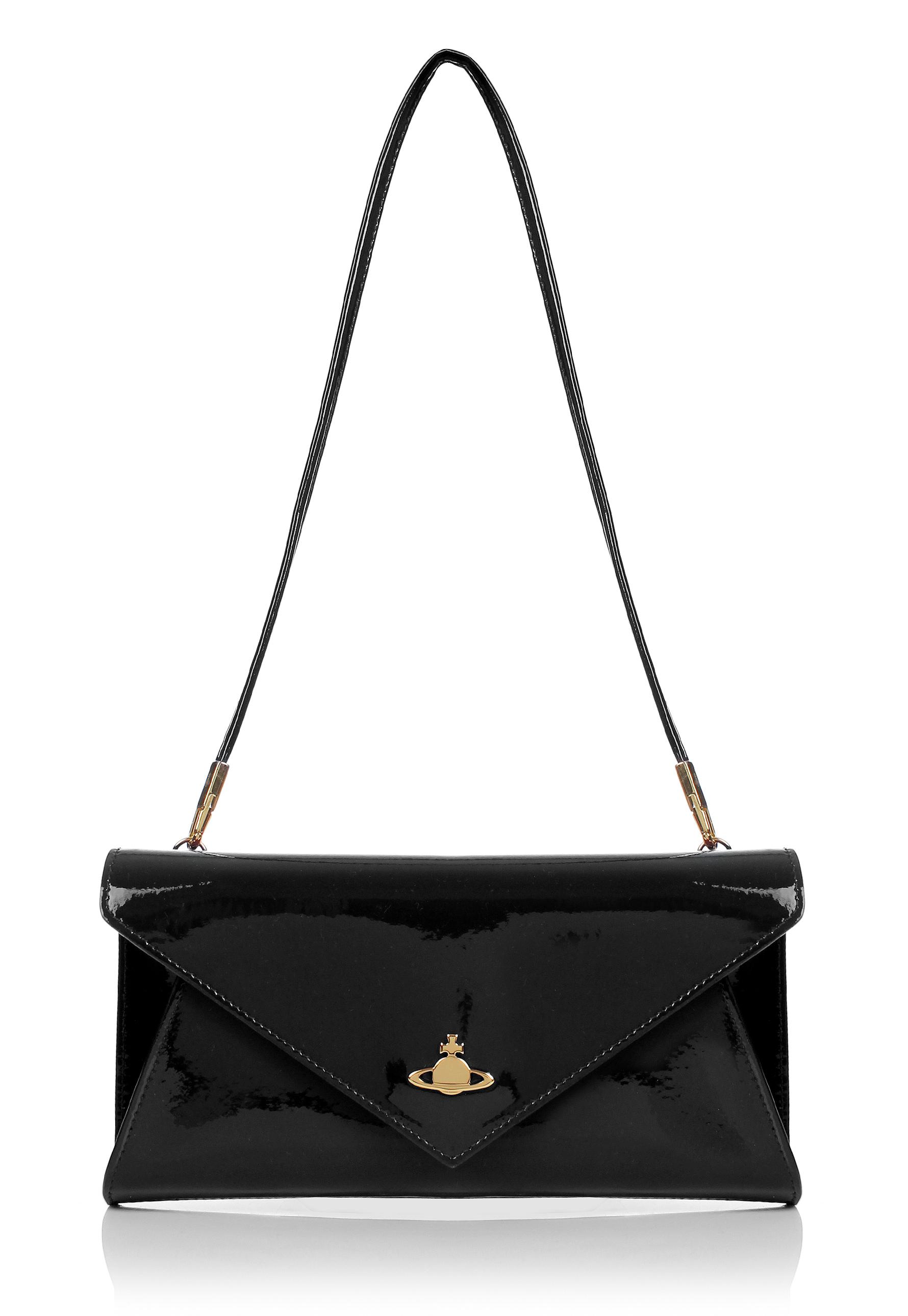 f354e26b83 Vivienne Westwood Mirror Ball 6700 Envelope Crossbody Black in Black ...