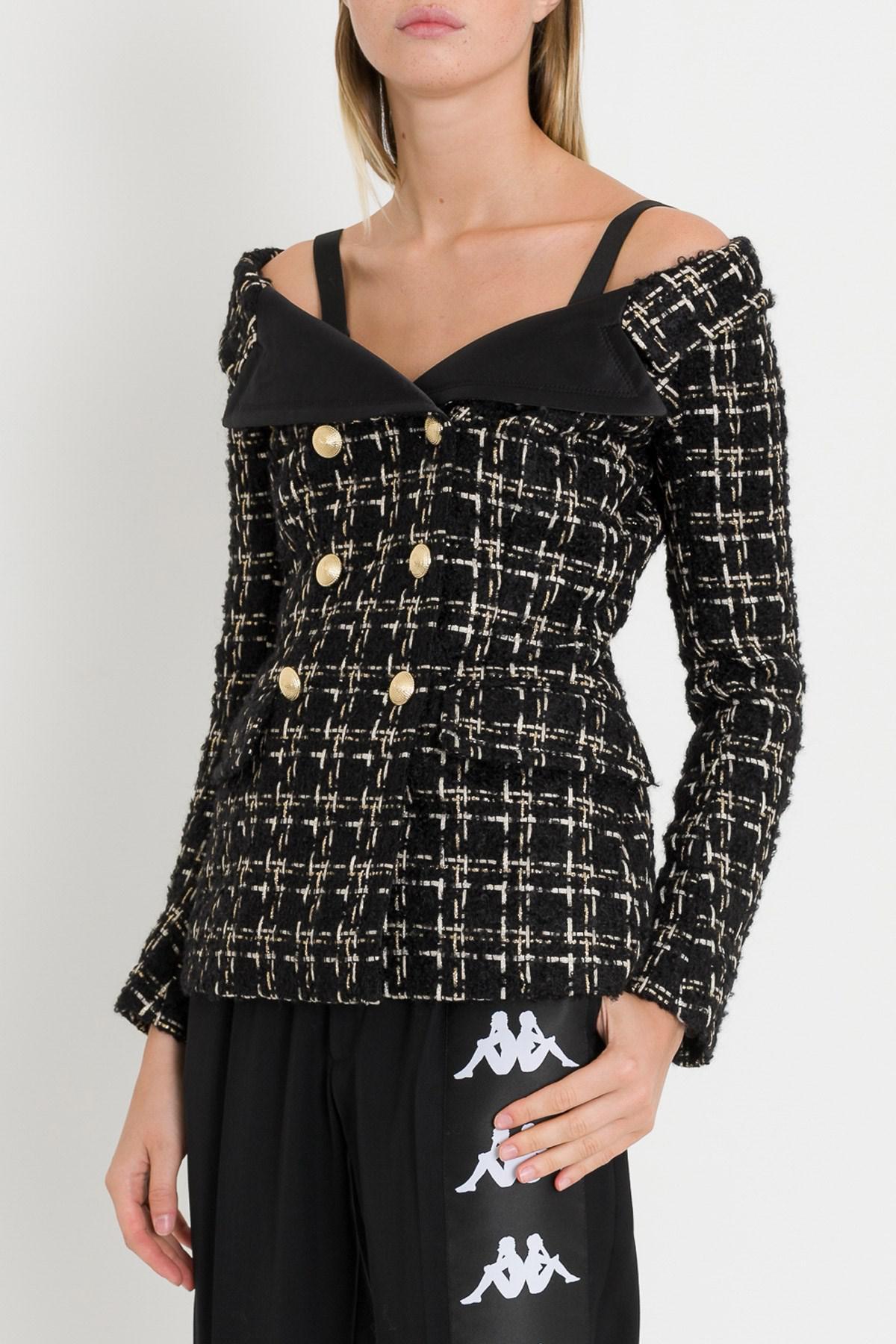 09cf4b58561 Lyst - Faith Connexion Sailor Jacket in Black
