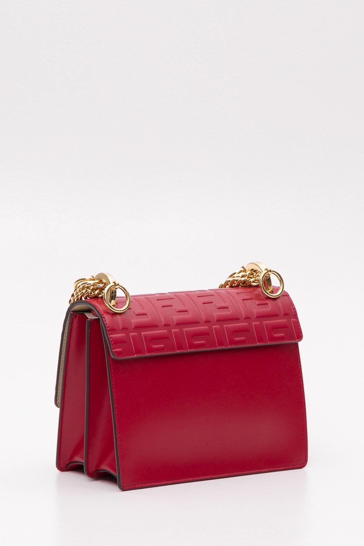 6aea8ce50be9 Fendi - Red Kan I Mini Shoulder Bag With Embossed Ff Motif - Lyst. View  fullscreen