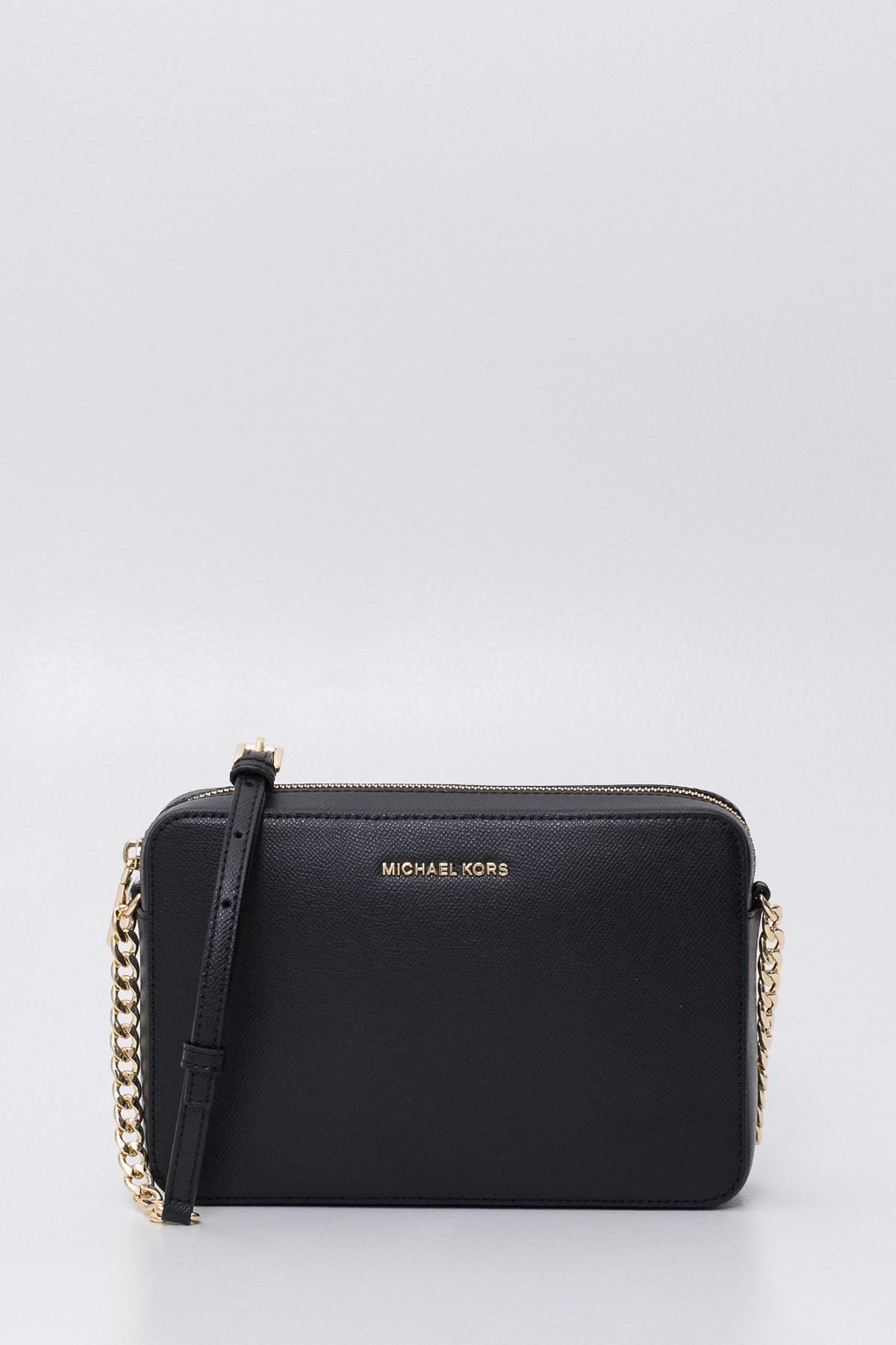 343c6d32a095 MICHAEL Michael Kors. Women s Black Jet Set Travel Saffiano Leather  Crossbody Bag