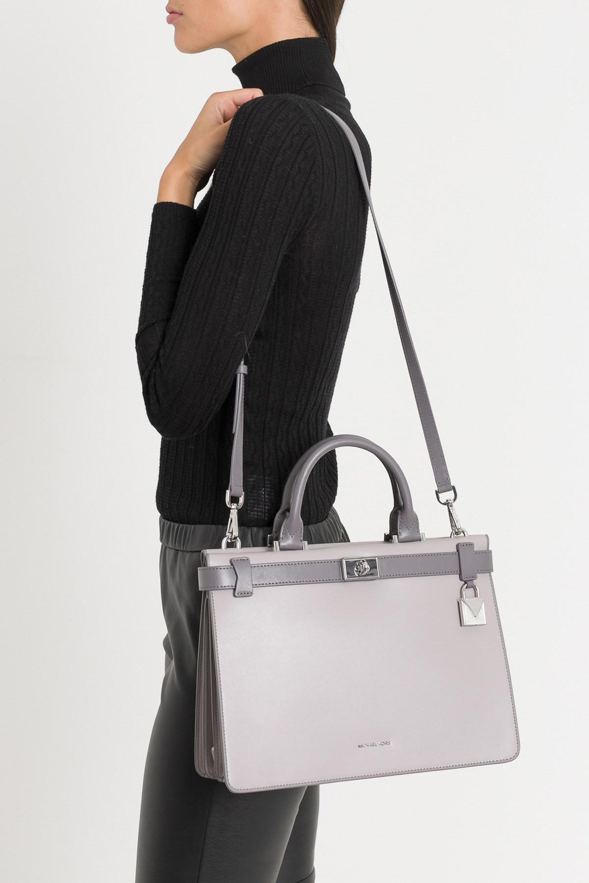 5c7d33f7996e MICHAEL Michael Kors. Women s Tatiana Medium Two-tone Leather Satchel