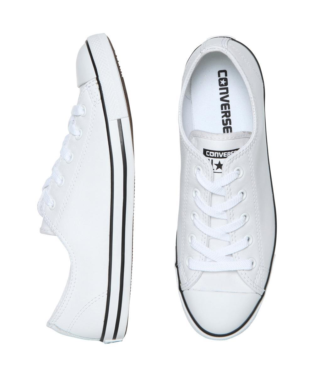 bcf82bc252b Converse - Chuck Taylor All Star Dainty Leather Sneakers White - Lyst. View  fullscreen