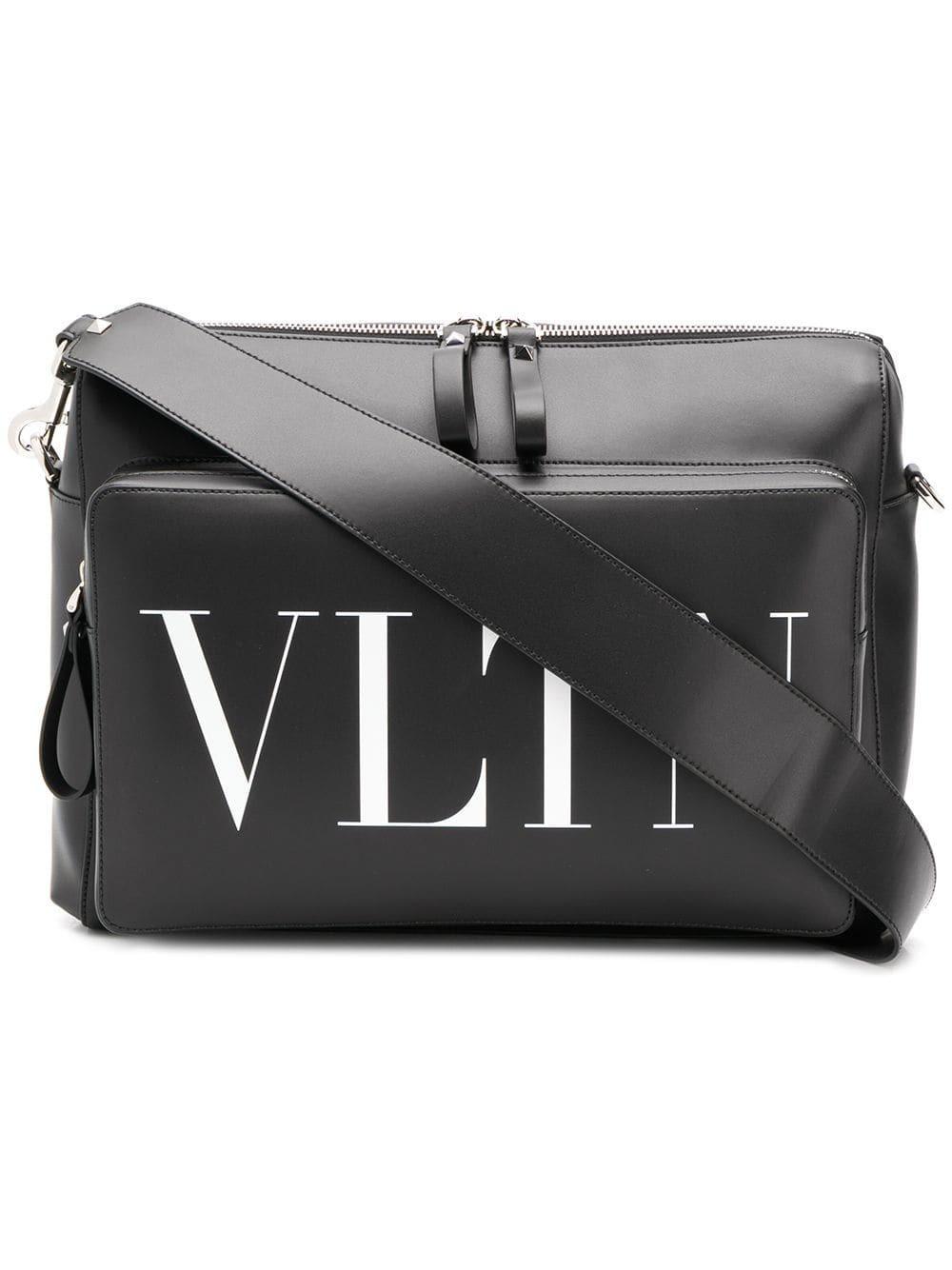 41dc9ca9f92 Valentino Vltn Shoulder Bag in Black for Men - Save 2% - Lyst