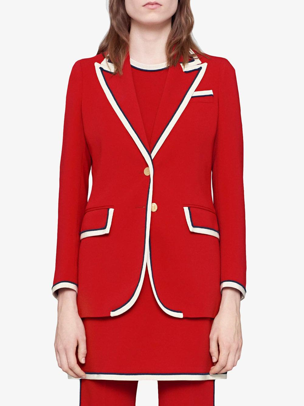 8ba78913b Gucci Stretch Viscose Jacket in Red - Save 41% - Lyst