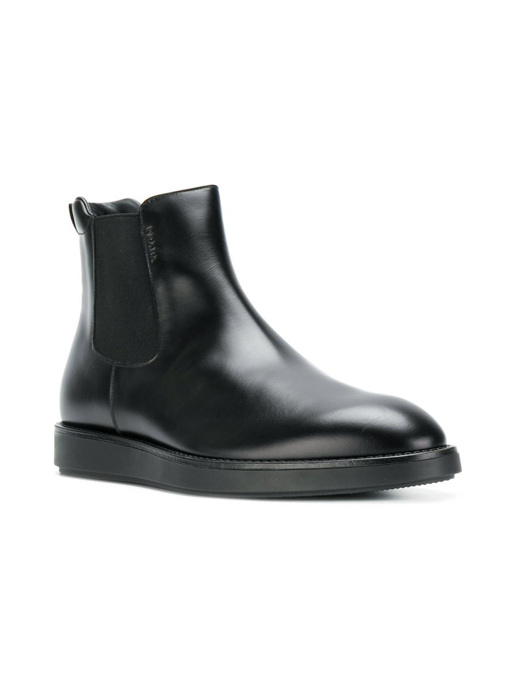f5f6ab49f5c Prada Welted Chelsea Boots in Black for Men - Lyst