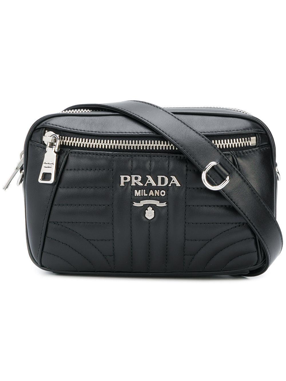 ... best price prada bevelled belt bag in black lyst b9649 b0347 9e6239b788fed