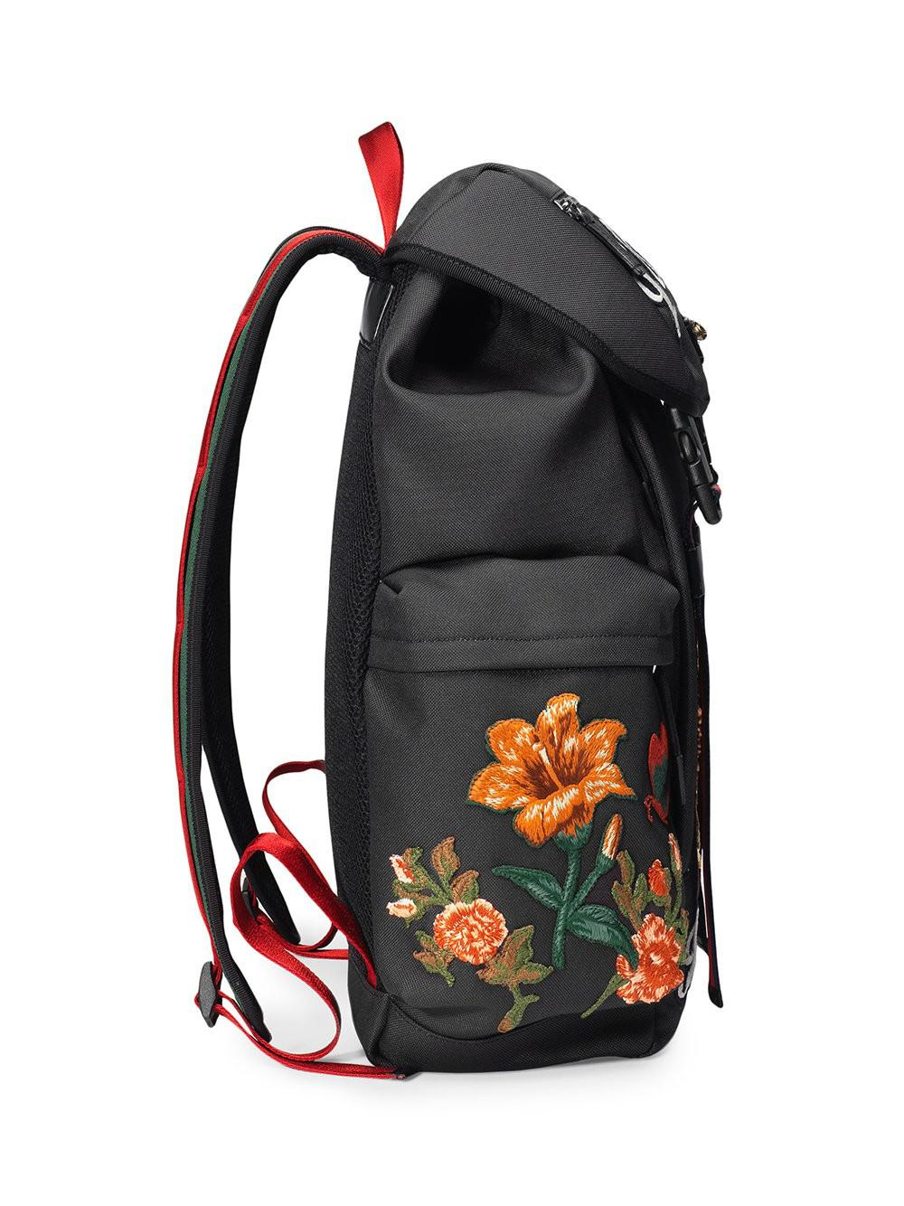 Lyst - Gucci Men's Zaino Embroidered Patch Canvas Backpack