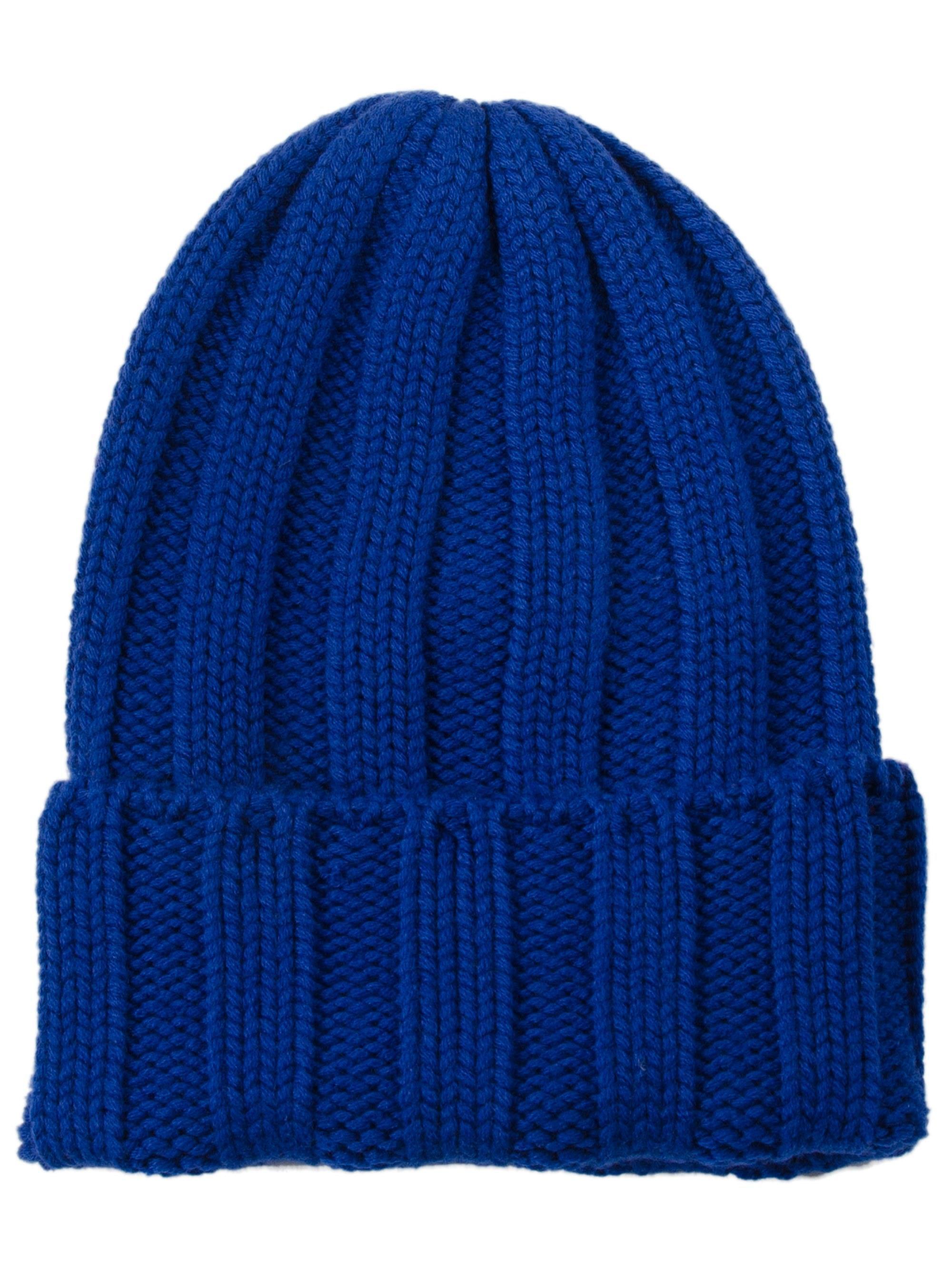 b09ac9a6aab Tak.Ori Ribbed Knit Beanie in Blue - Lyst