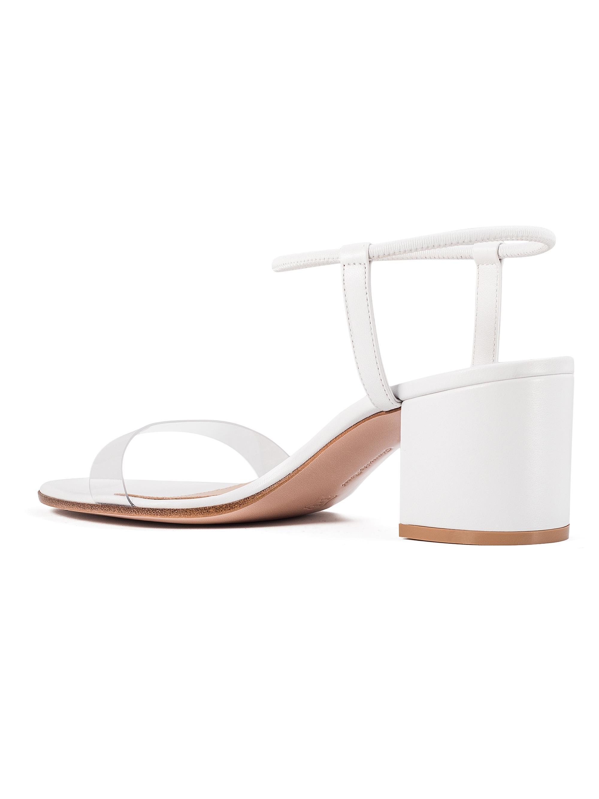 47159b0c4dd Gianvito Rossi - White Transparent Strap Sandals - Lyst. View fullscreen