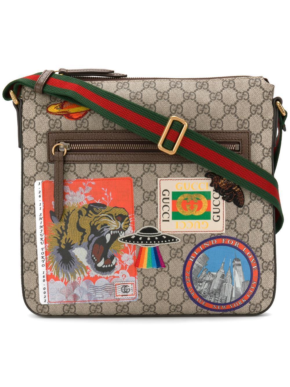 7e92f3a2f40e4 Lyst - Gucci Courrier Soft Gg Supreme Crossbody Bag for Men