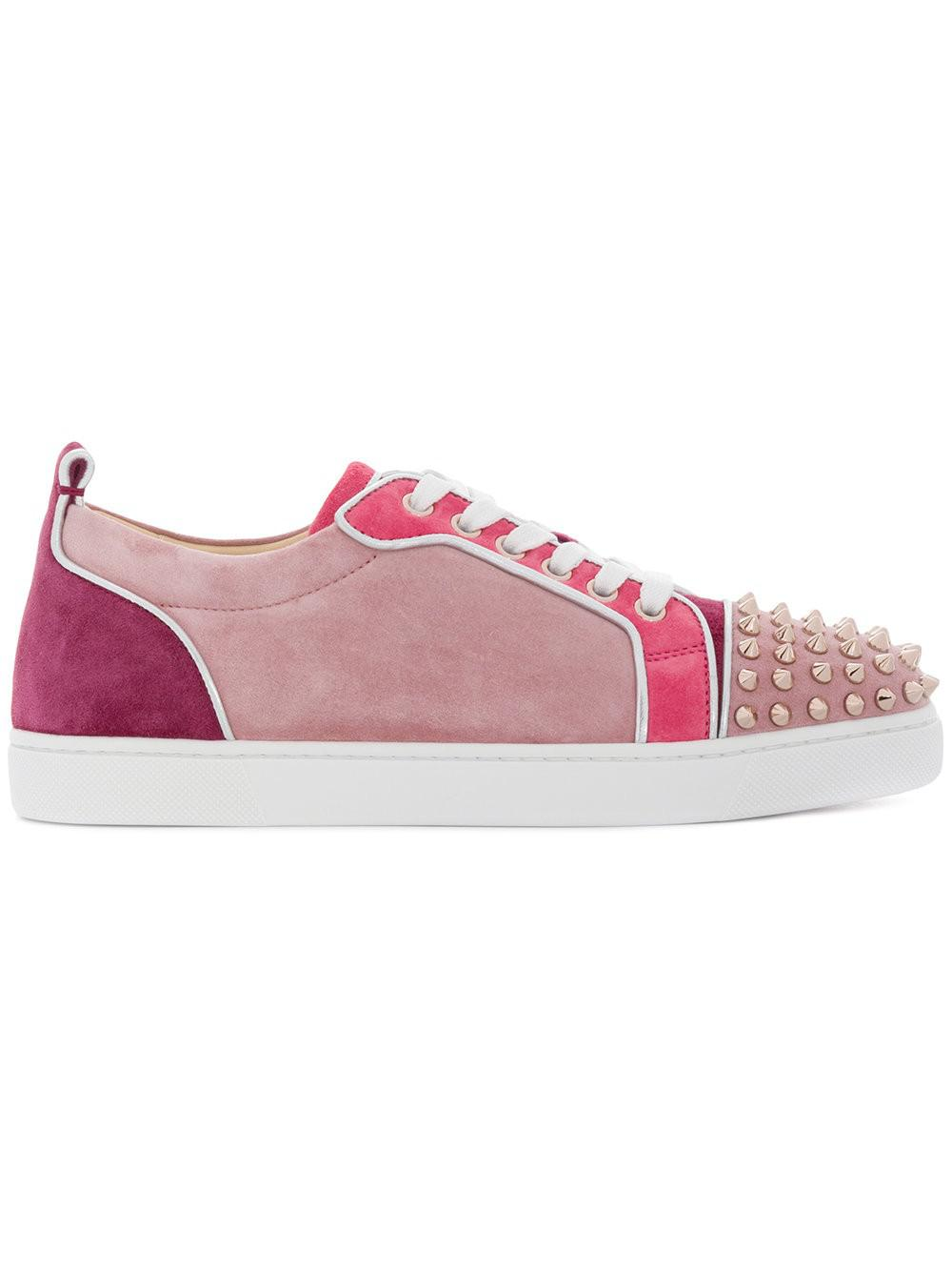 e258ee9dca65 Lyst - Christian Louboutin Junior Spike Z Sneakers in Pink