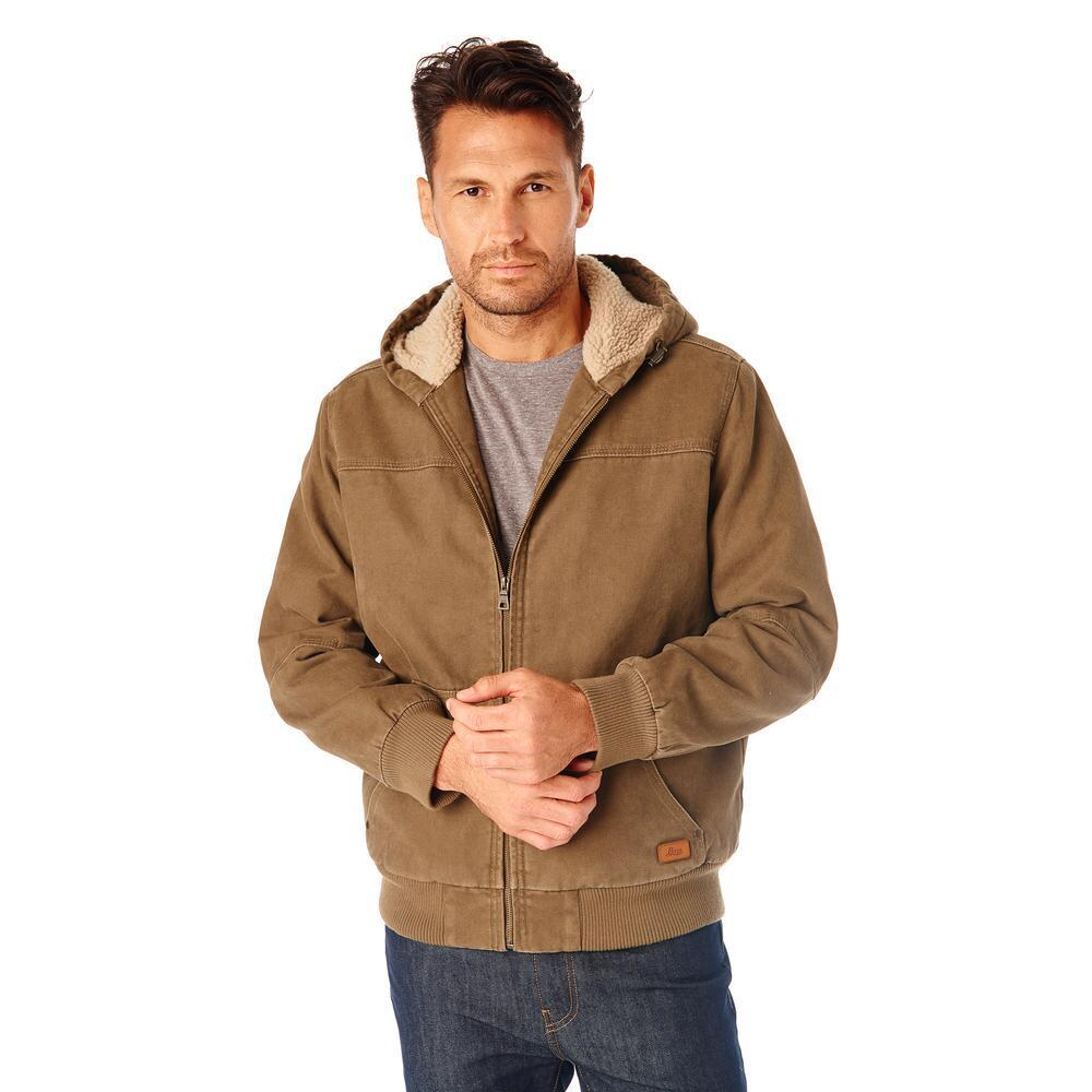 G.h. bass & co. Canvas Hooded Jacket in Brown for Men