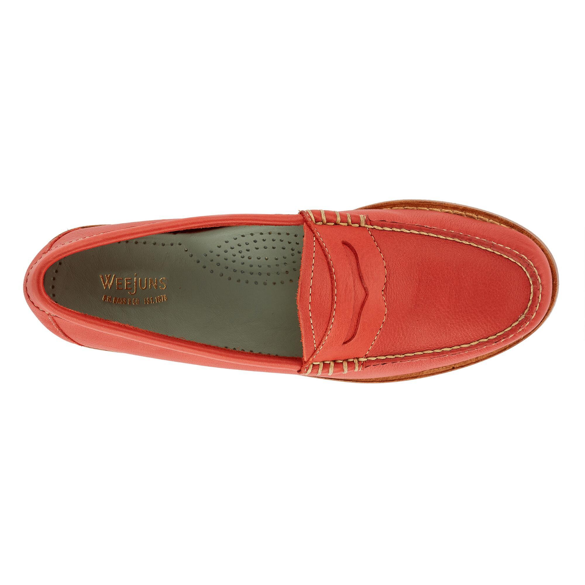 d73a71fc1f6 Lyst - G.H.BASS Whitney Natural Sole Weejuns in Red