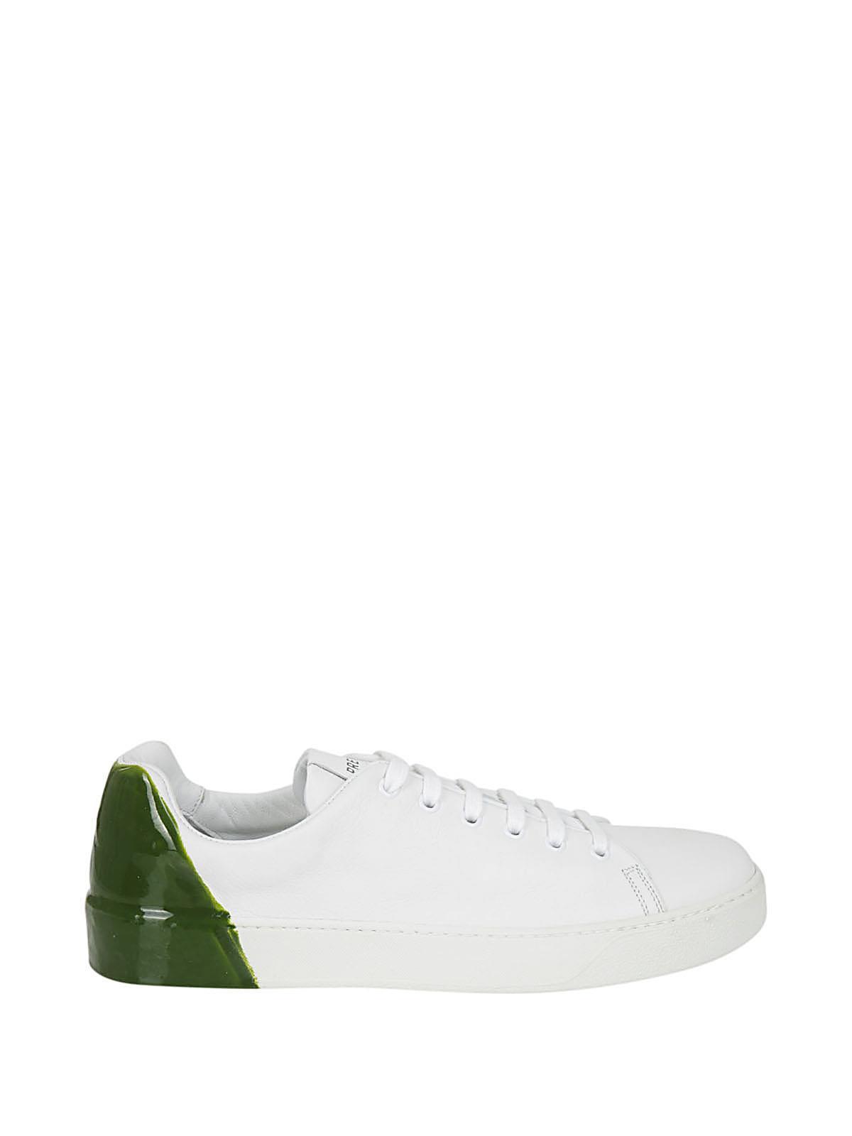 Lyst Premiata PREMIATA Sneaker inserto vernice bianca in