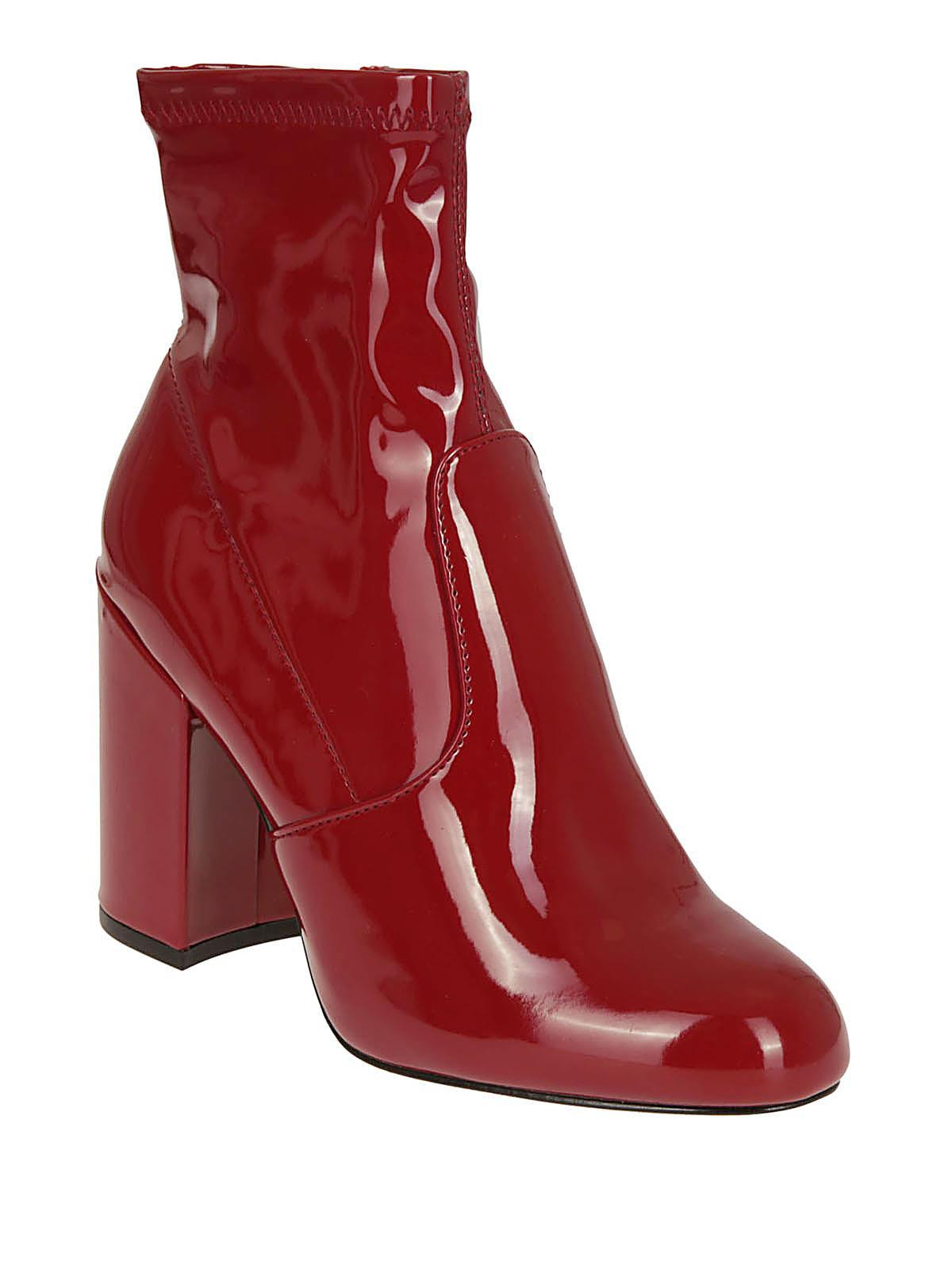 5051ebc87 Steve Madden Ankle Boots in Red - Save 46% - Lyst