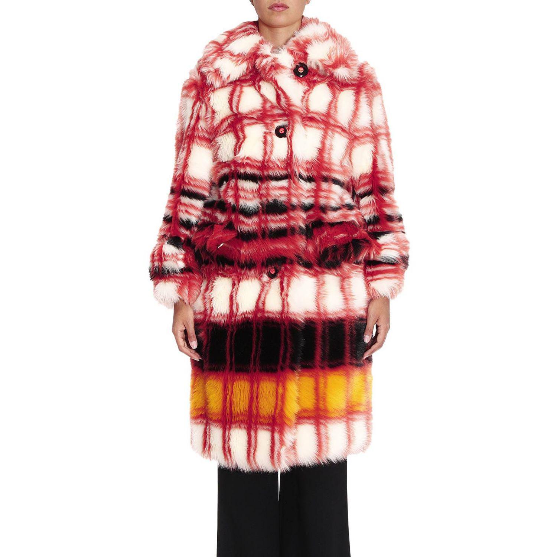 Miu Miu Coat Women in Orange - Lyst 6b7895dee8