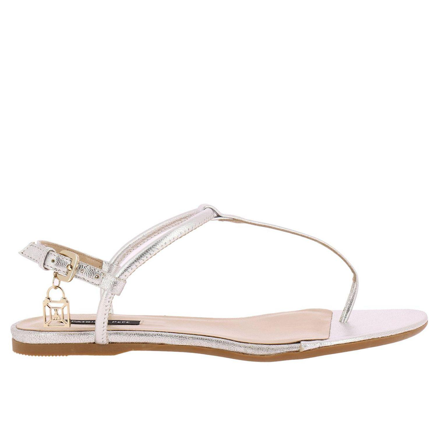 a6ac5944067 Patrizia Pepe Flat Sandals Shoes Women in Metallic - Lyst