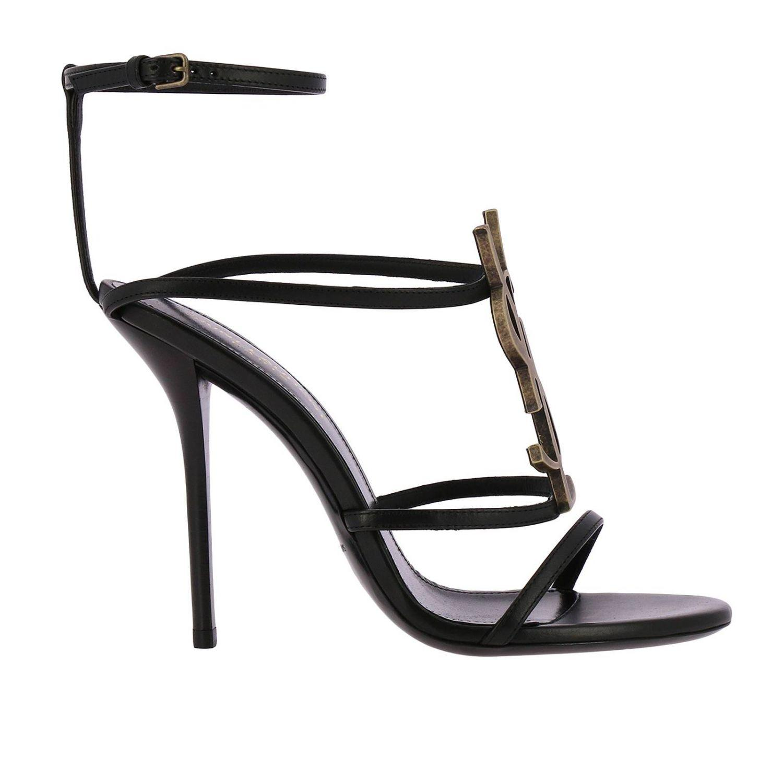 3d71978bd Saint Laurent Cassandra 110 Sandals in Black - Save 21% - Lyst