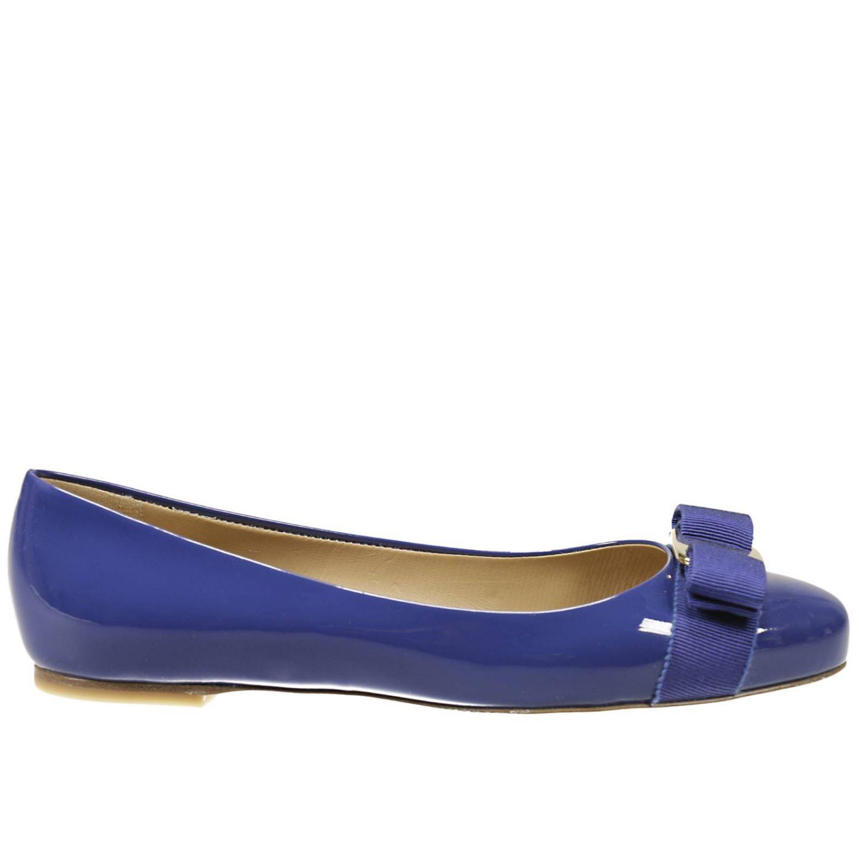 Ferragamo Flat Shoes In Blue Royal Blue Lyst