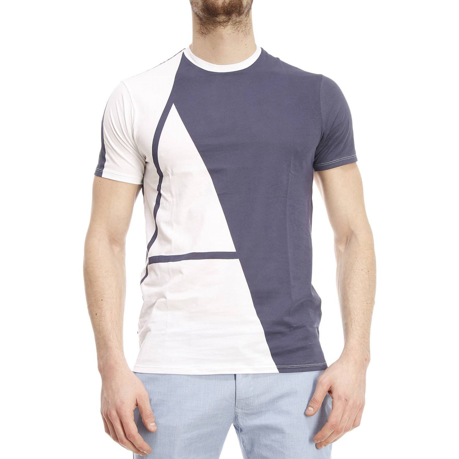 Armani Jeans T Shirt In White For Men Lyst