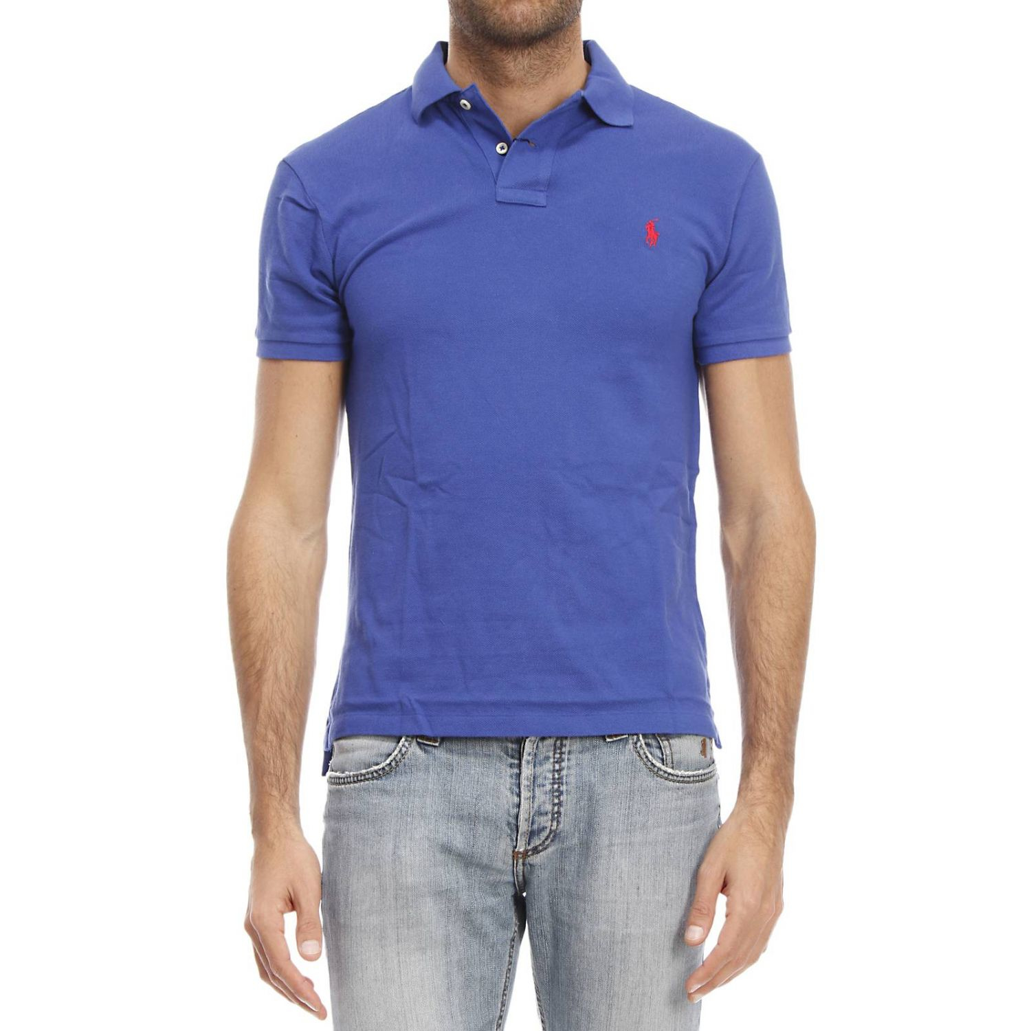 polo ralph lauren t shirt in blue for men lyst. Black Bedroom Furniture Sets. Home Design Ideas