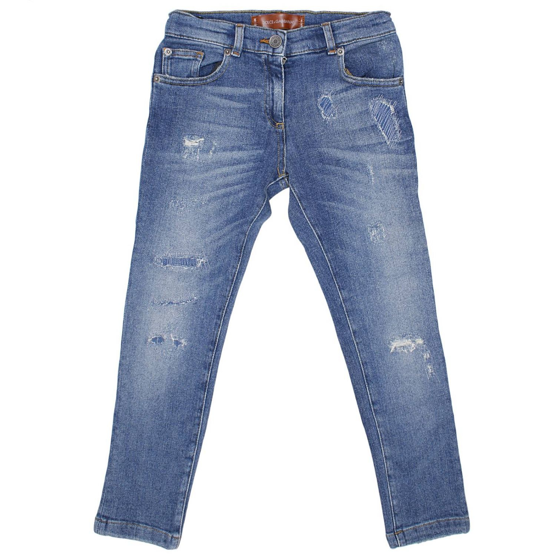 lyst dolce gabbana jeans denim used slim stretch in blue. Black Bedroom Furniture Sets. Home Design Ideas