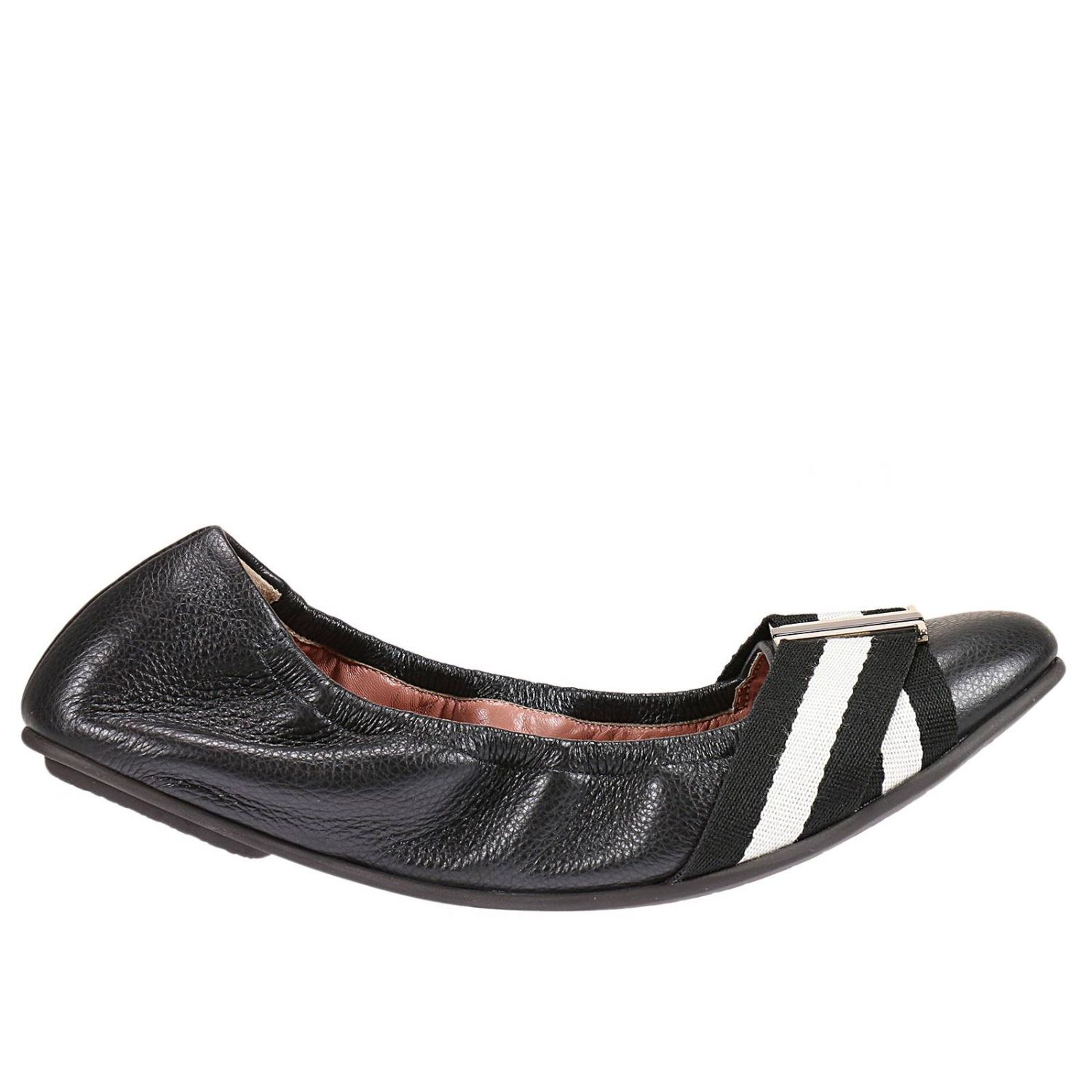 bally ballet flats shoes in black lyst