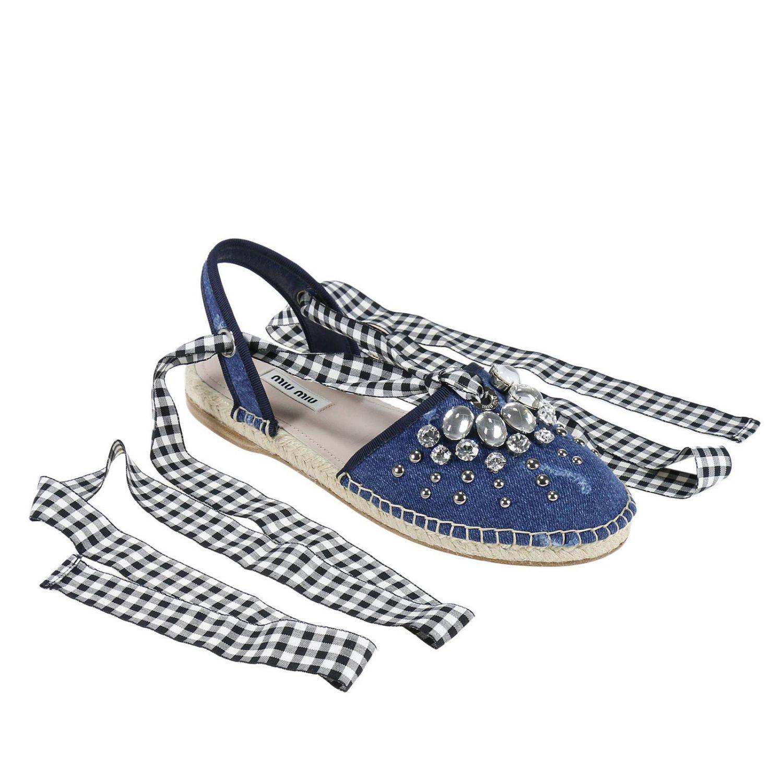 Lyst - Miu Miu Espadrilles Shoes Women in Blue ab97cfba71