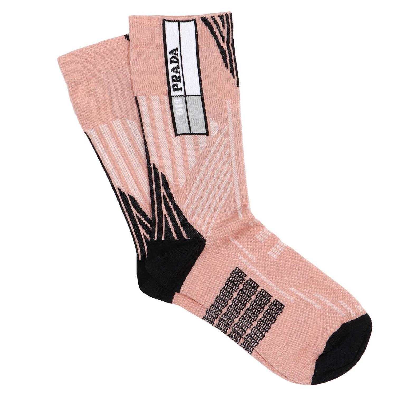 Womens Comic-Print Cotton Mid-Calf Socks Prada Supply For Sale 47y5I3vJ