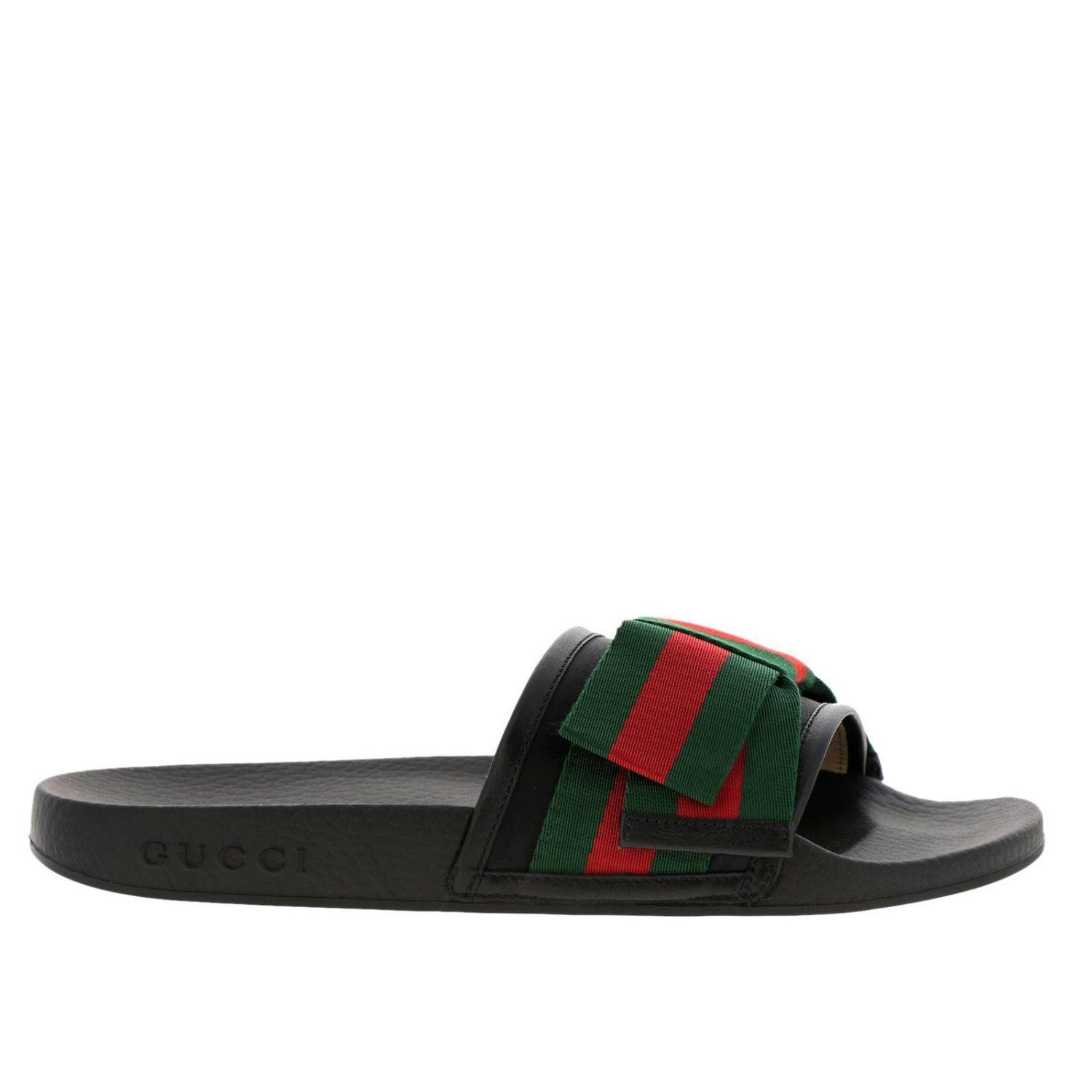 76fdfeaf3ad241 Lyst - Gucci Flat Sandals Shoes Women in Black - Save 17%