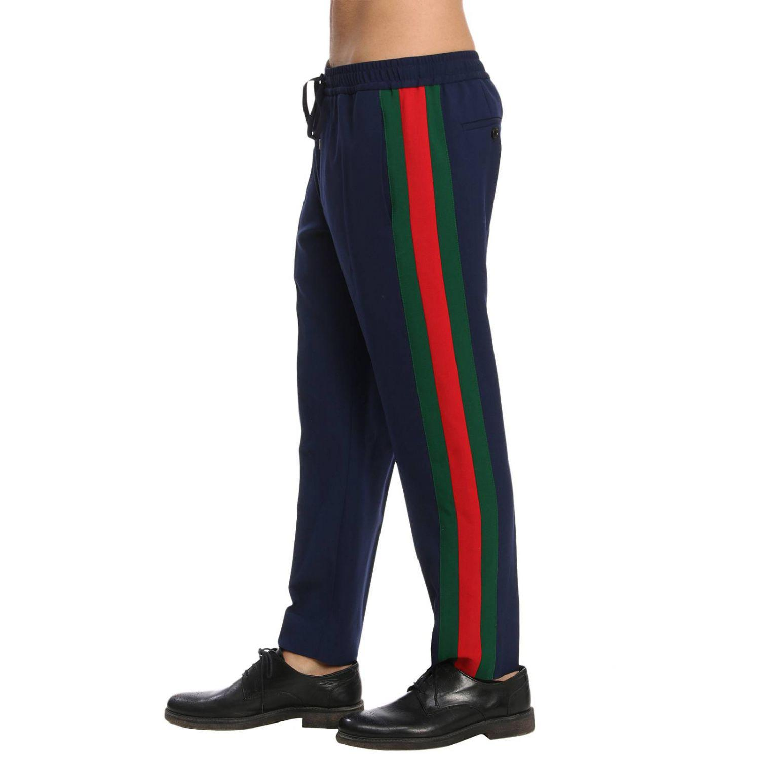 411ffc387ab Gucci Pants Men in Blue for Men - Lyst