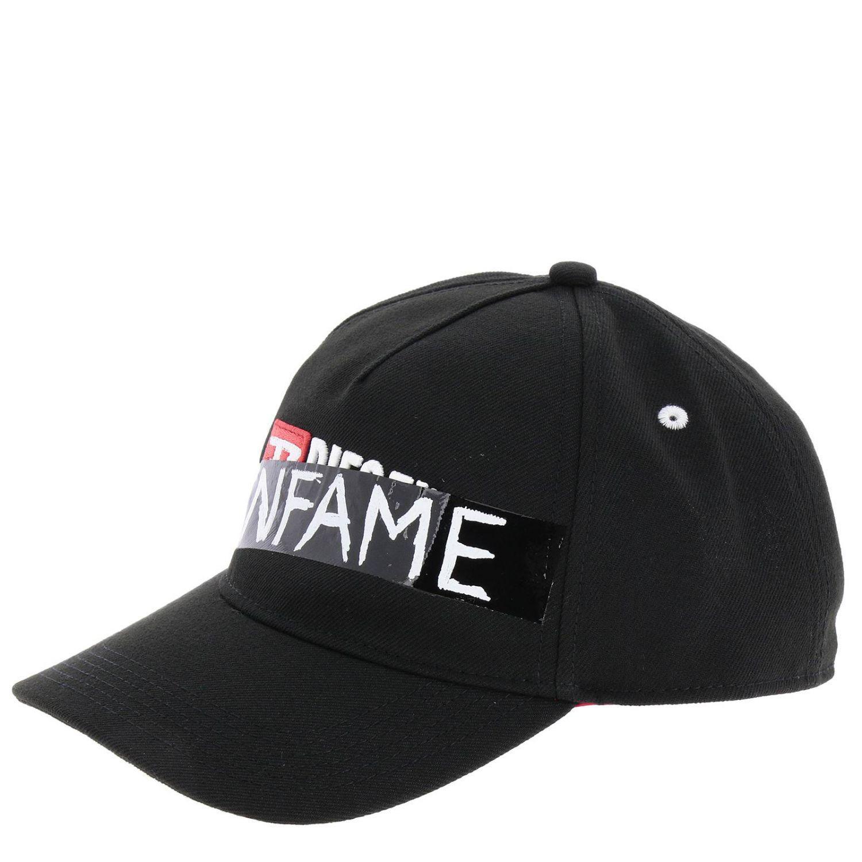 Diesel Hat Men in Black for Men - Lyst 861a5666c20