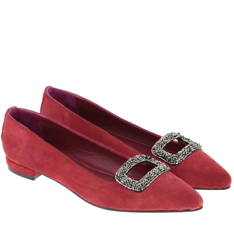 Maliparmi Flats In Lyst Shoes Ballet Red Women UEwadqav