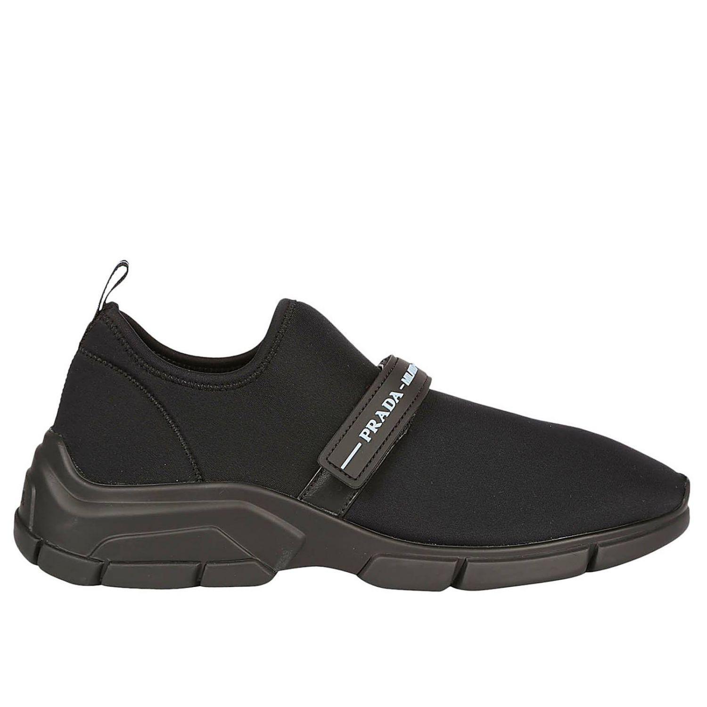 f2273d2bdc Prada Sneakers Shoes Women in Black - Lyst