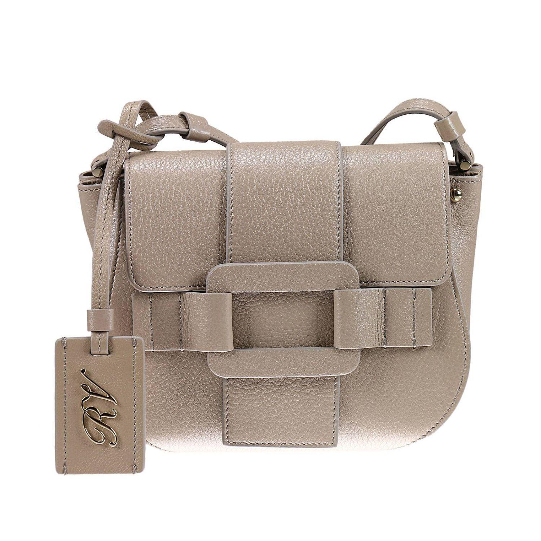 Lyst - Roger Vivier Pilgrim De Jour Bag Mini In Real Leather in Gray 513069cb31