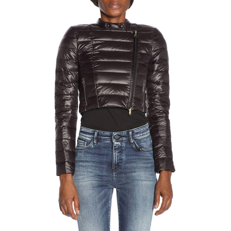 6cbe132e896 Patrizia Pepe Jacket Women in Black - Lyst