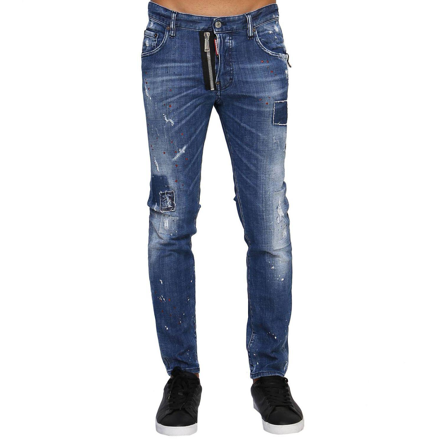 Dsquared² Pants Men in Blue for Men - Lyst 36762dcb9876