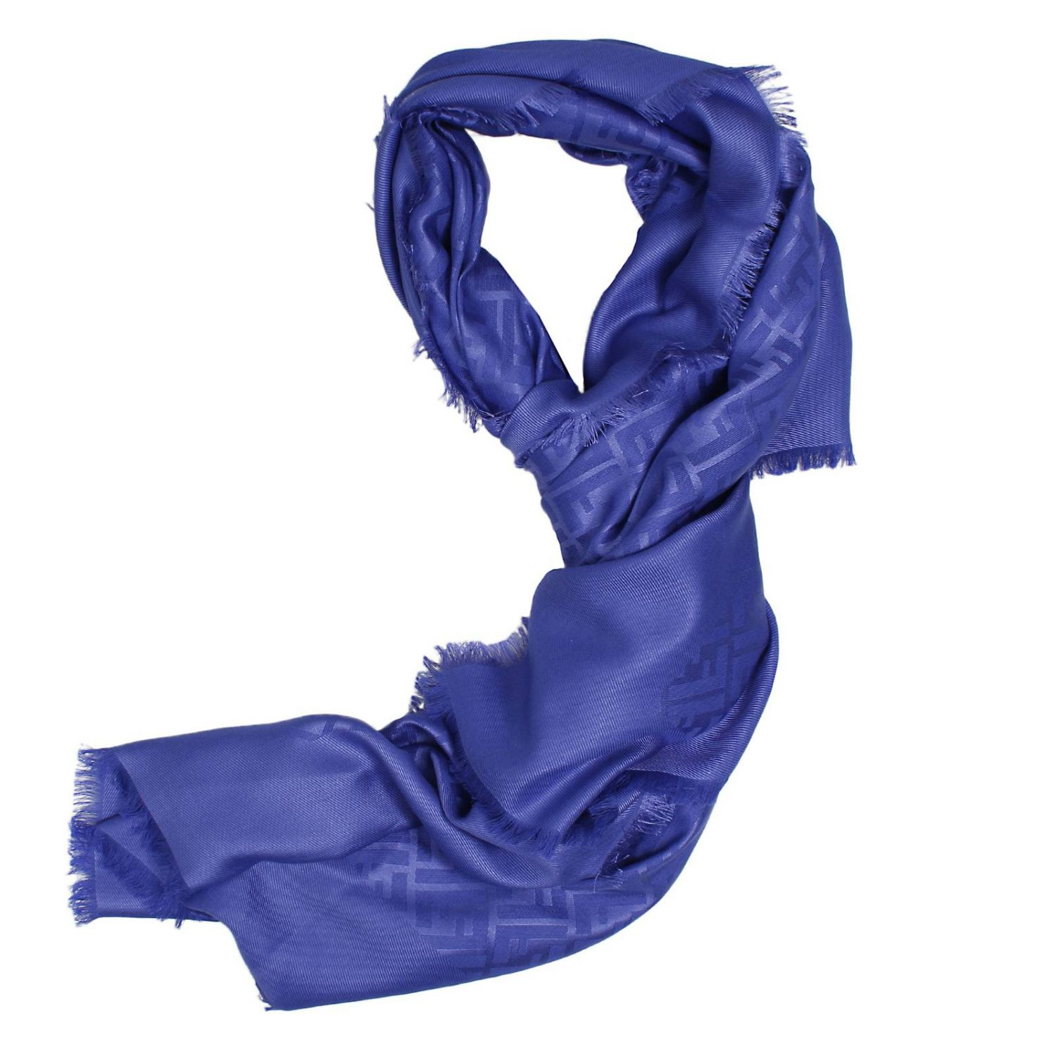 fendi scarf in blue turquoise lyst