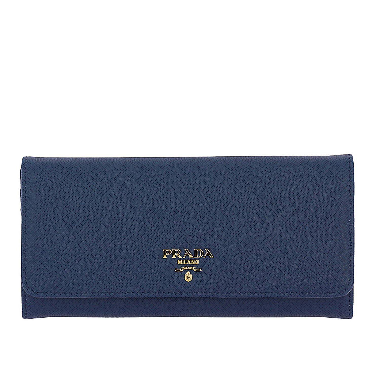 745cd5e8e8d9 ... get prada blue wallet women lyst. view fullscreen ced13 b42eb