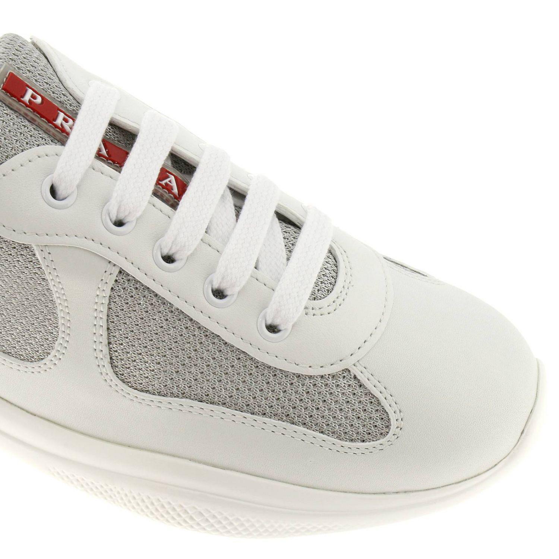 Chaussures Lyst Prada Baskets En Coloris Iybed9eh2w Blanc Femme Kcl3u5FJT1