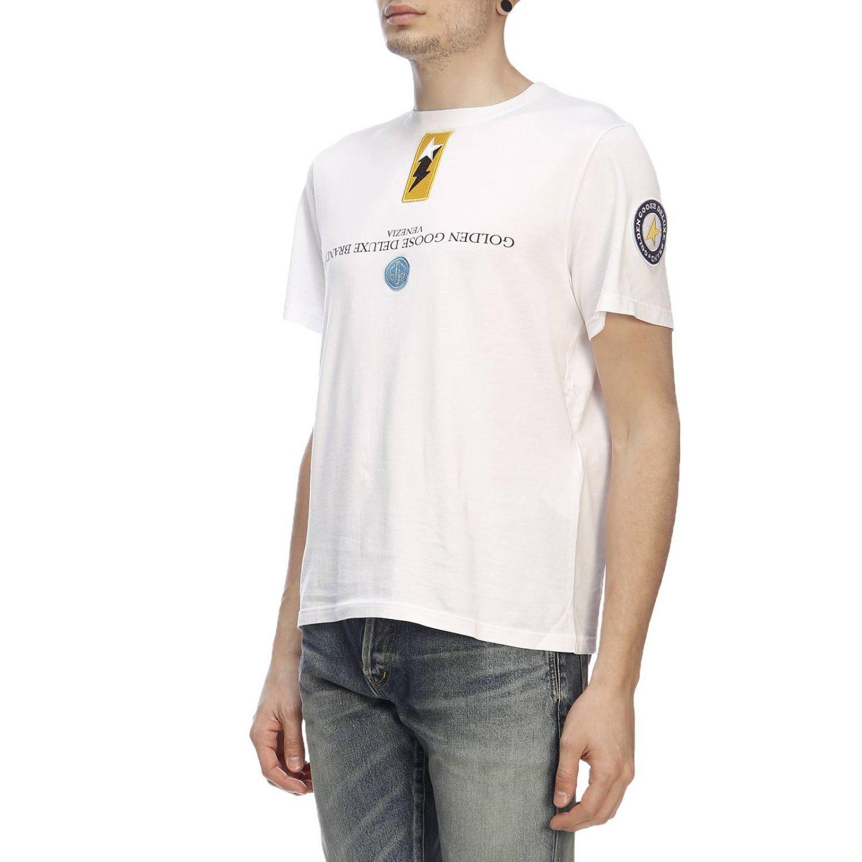 f4f531f9bf37 Golden Goose Deluxe Brand T-shirt Men in White for Men - Lyst