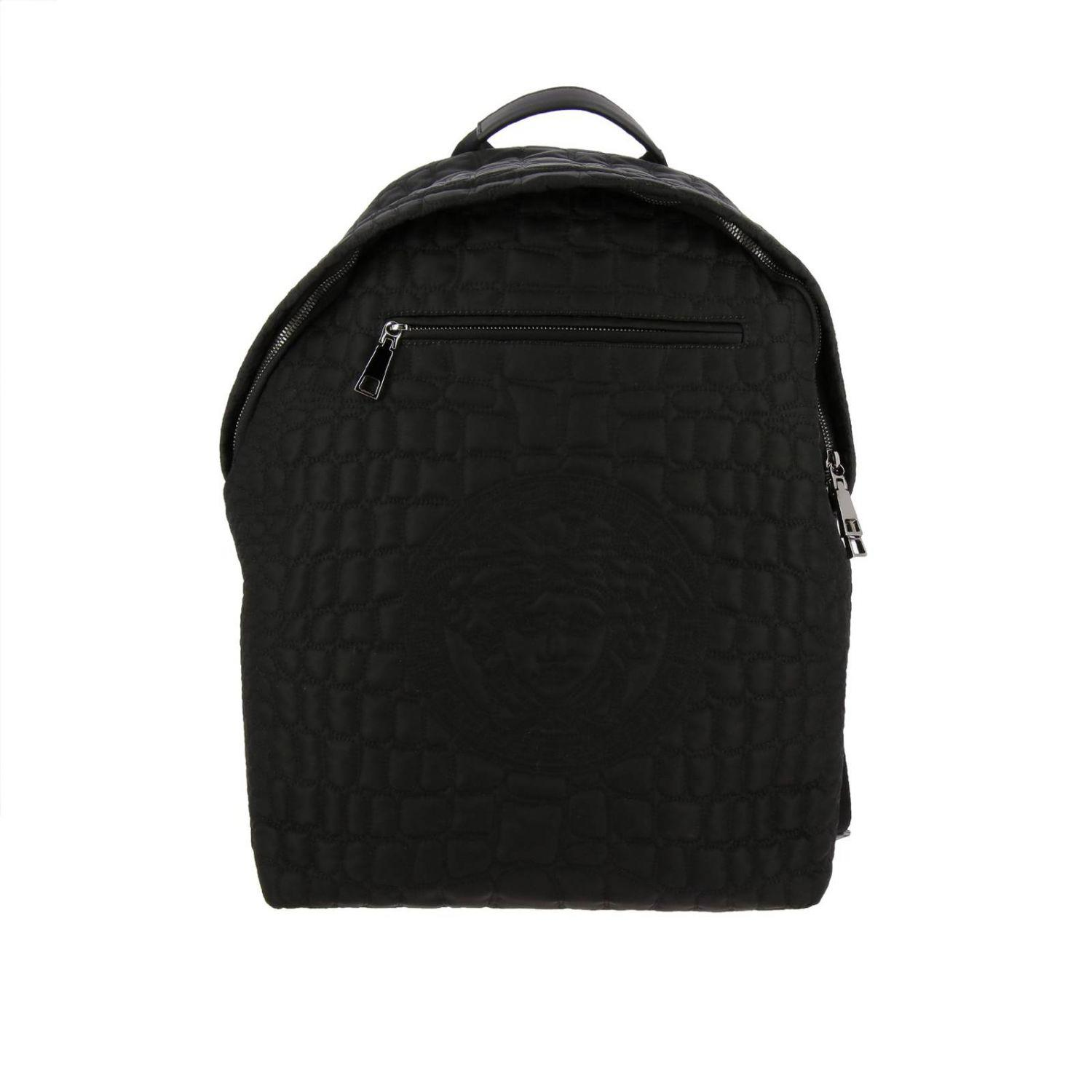 a35a02472c Lyst - Versace Backpack Bags Men in Black for Men
